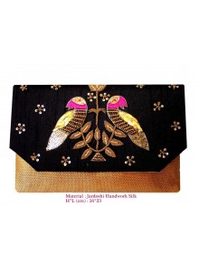 black zardosi work clutch