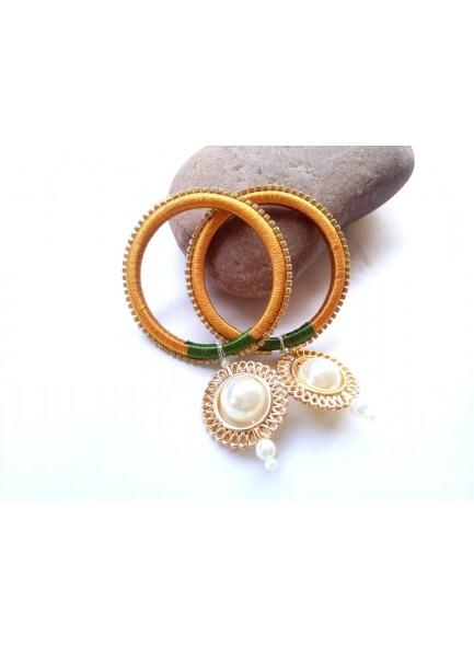 golden thred bangels