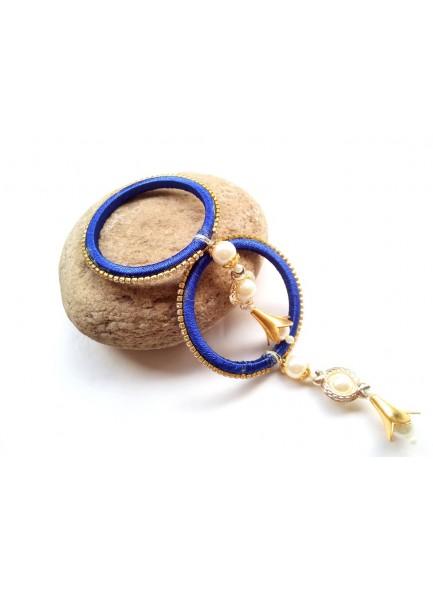 royal blue thred bangels