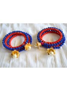 blue bangles with dulls