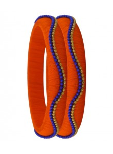 orange silk thread bangles