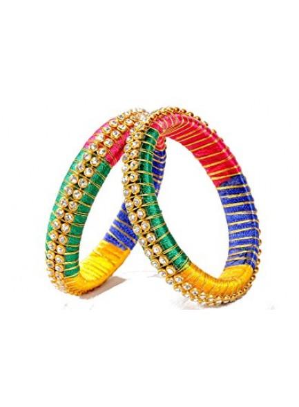 multi color silk thread bangles