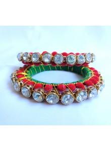 velvet beads traditional bangles
