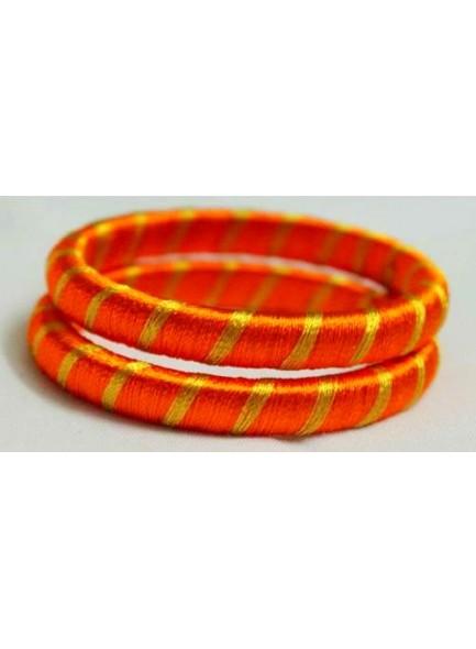 orange silk thread bangles