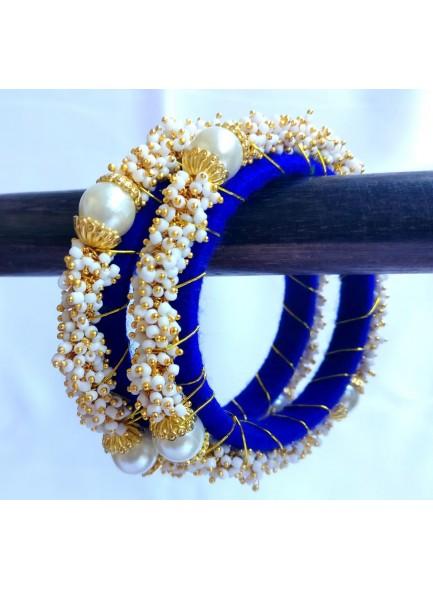blue pearl designer bangles