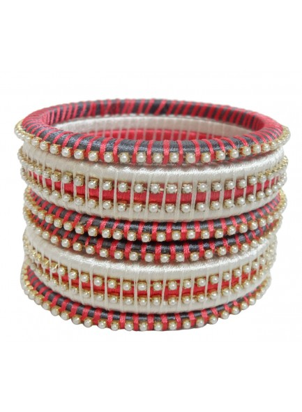 black and white thread bangles