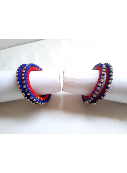 blue and red bangles