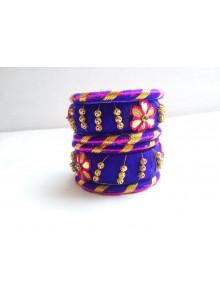 blue bangles set