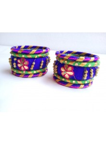 blue bangles set (purple,green)