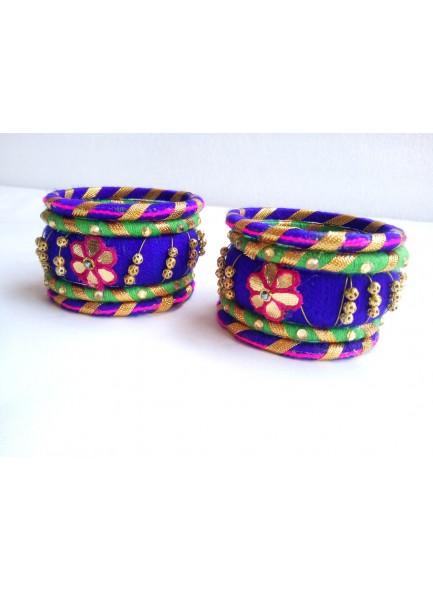 blue bangles set (purple,green)