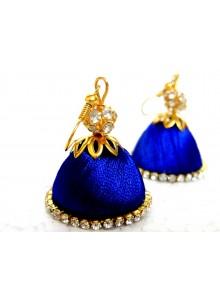 blue thread earrings jumkha