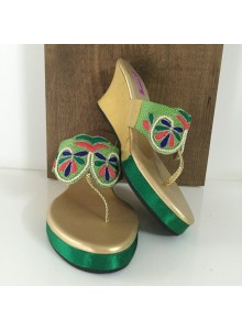 green and parrot women footwear