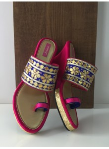 Blue and pink women footwear