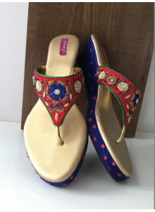 blue and red women footwear