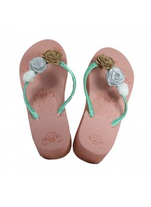 multi rose flowers flip flop