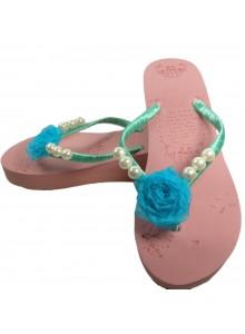 aqua rose flip flop