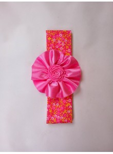 Pink flower with rose headband