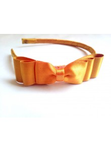 golden bow hair band