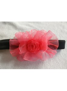 pink rose hair band for baby