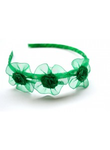green rose hair band