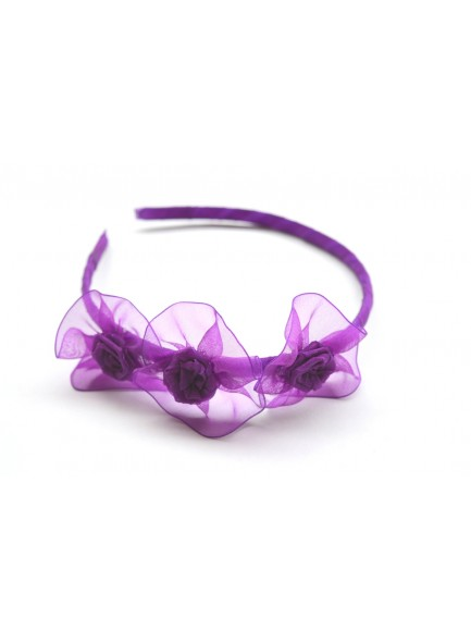dark purple rose hair band