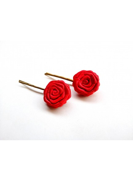 red rose bobby pin