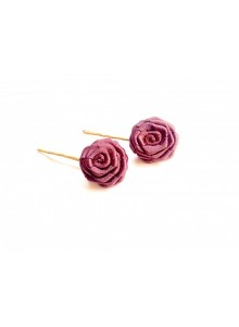 brown rose bobby pin