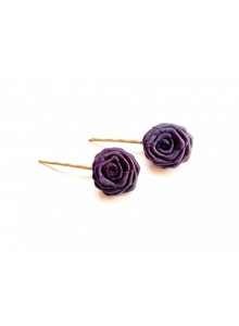black rose bobby pin