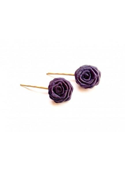 black rose bobby pin