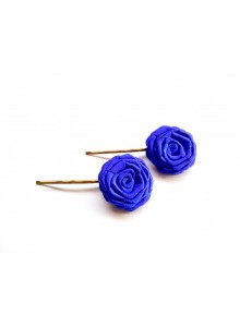 blue rose bobby pin