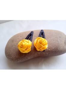 yellow rose hair pin