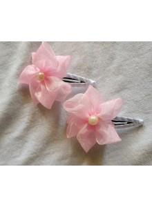 pink flower baby hair clip