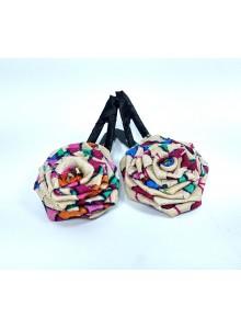multi color rose hair pin