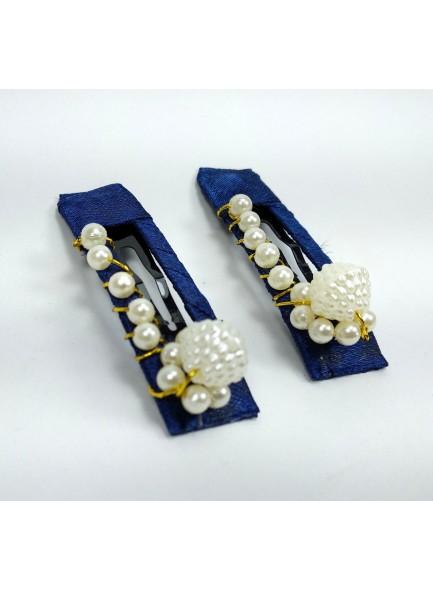 white pearl hair clip