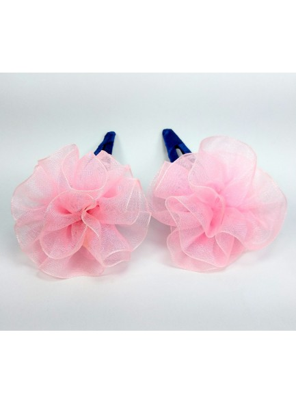 pink flower baby hairclip