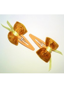 Gold Bow Hair Pins