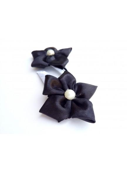 Black Flower Hair Pin