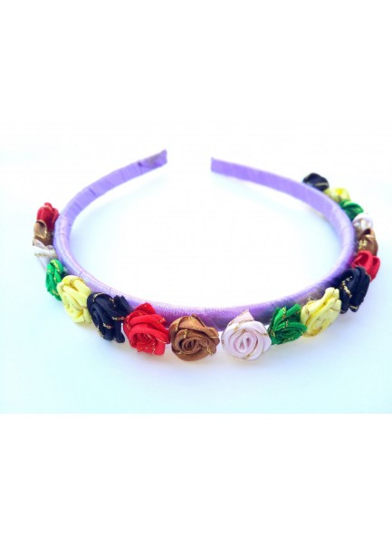 Purple Small Rose Hair Band