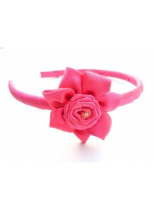 Dark Pink Flower Hair Band