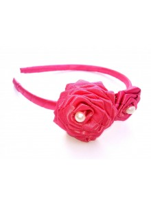 Pink Rose Hair Band