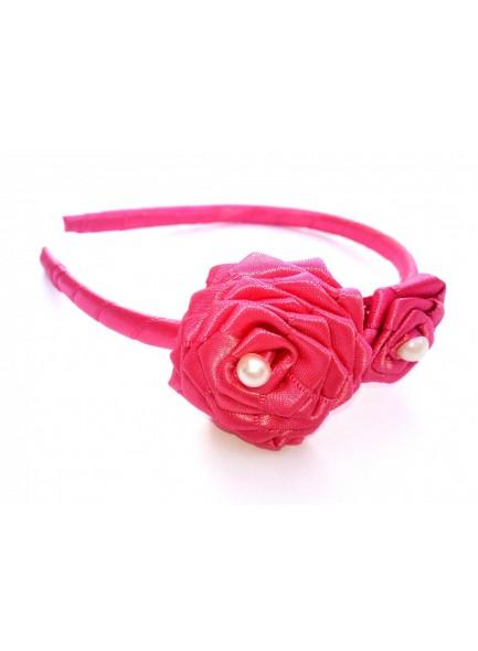 Pink Rose Hair Band