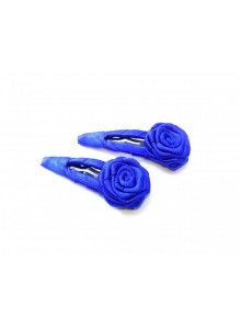 Royal Blue Small Rose Hair Pin