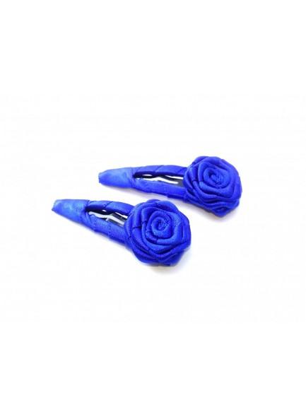 Royal Blue Small Rose Hair Pin