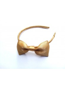 Gold bow hair band