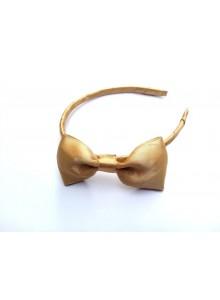 Gold bow hair band