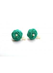 Firozi rose earrings