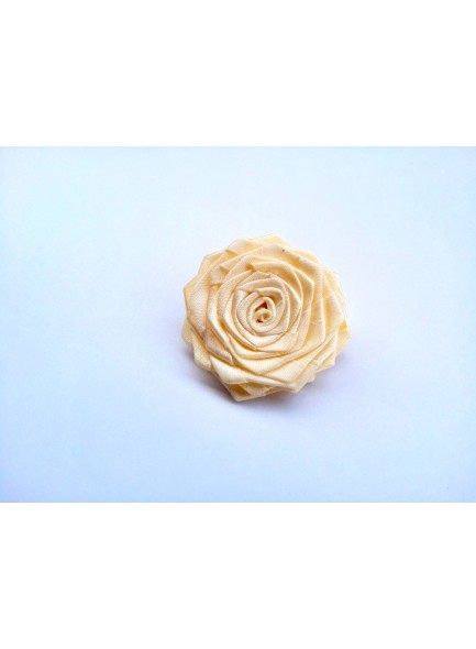 Cream rose saree pin