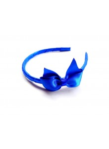 Blue bow hair band