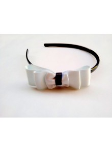 white bow hair band
