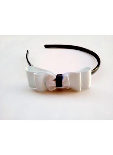 white bow hair band